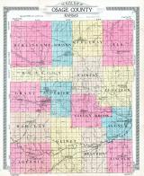 Osage County Outline Map, Osage County 1918
